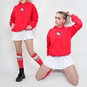SCREAM KITTY RED PULLOVER HOODIE